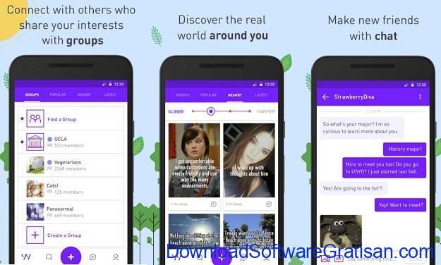 Aplikasi Chat Room Terbaik untuk Android - Whisper