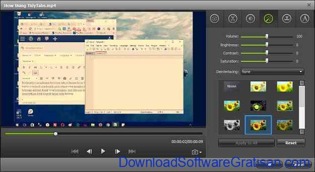 Aplikasi Convert Video & Audio iSkysoft iMedia Converter Deluxe - Edit
