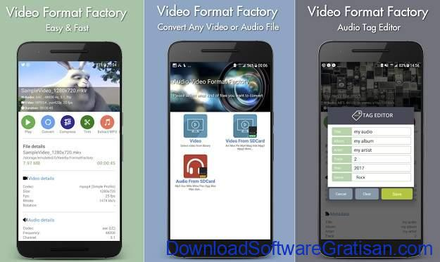 Aplikasi Convert Video ke Mp3 Android Gratis Terbaik - Video Format Factory
