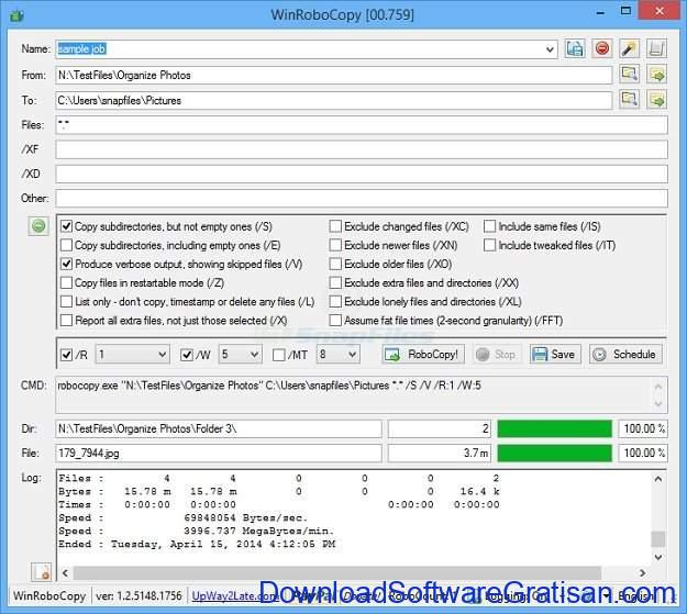 Aplikasi Copy File Gratis WinRoboCopy