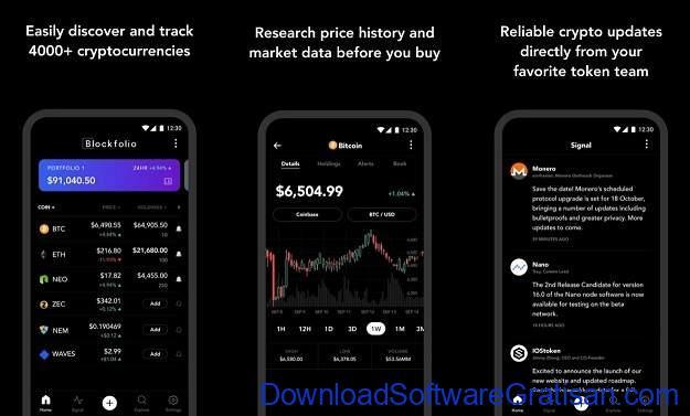 Aplikasi Cryptocurrency Android Terbaik Blockfolio