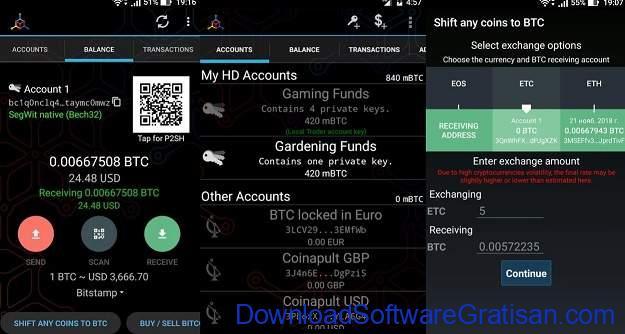 Aplikasi Cryptocurrency Android Terbaik Mycelium Bitcoin Wallet