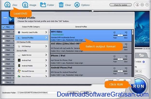 Aplikasi DVD Converter Gratis untuk PC WinX DVD Ripper Free Edition