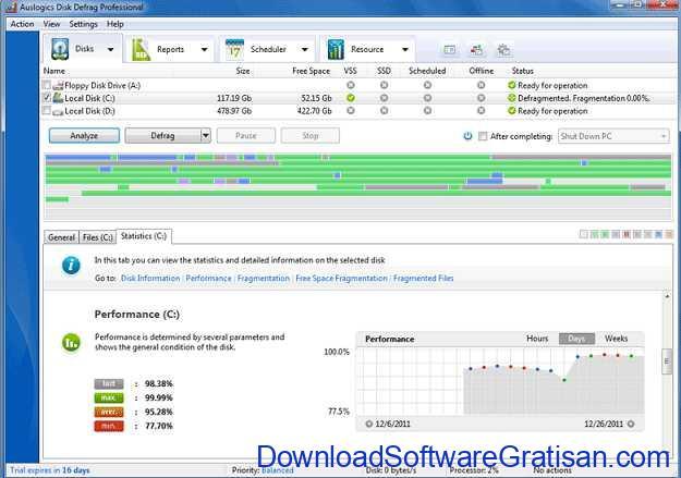 Aplikasi Defrag Gratis Terbaik untuk PC Auslogics Disk Defrag