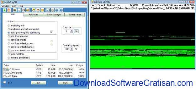 Aplikasi Defrag Gratis Terbaik untuk PC MyDefrag