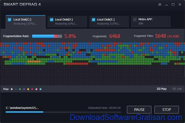 Aplikasi Defrag Gratis Terbaik untuk PC Smart Defrag