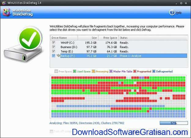 Aplikasi Defrag Gratis Terbaik untuk PC WinUtilities DiskDefrag