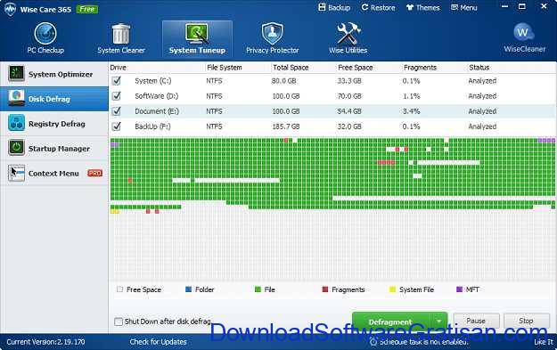 Aplikasi Defrag Gratis Terbaik untuk PC Wise Care 365