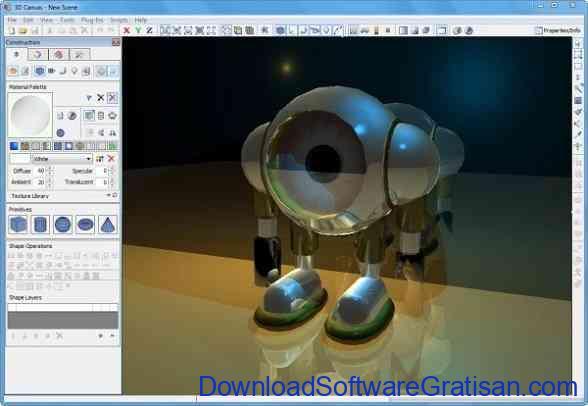 Aplikasi Desain Grafis 3D Gratis Terbaik untuk PC 3D Crafter