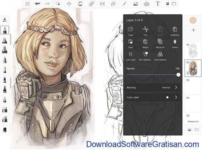 Aplikasi Desain Grafis Android Gratis Terbaik Sketchbook