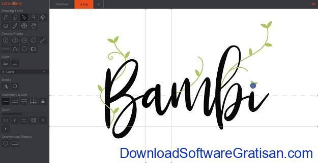 Aplikasi Desain Huruf Gratis Terbaik - BirdFont