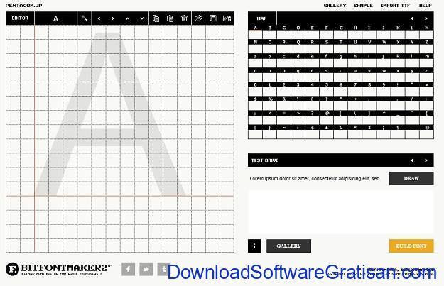 Aplikasi Desain Huruf Gratis Terbaik - BitFontMaker