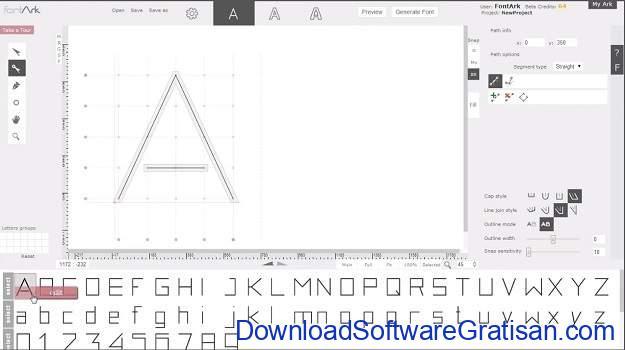 Aplikasi Desain Huruf Gratis Terbaik - FontArk