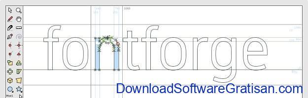 Aplikasi Desain Huruf Gratis Terbaik - FontForge