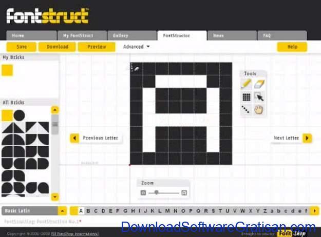 Aplikasi Desain Huruf Gratis Terbaik - FontStruct