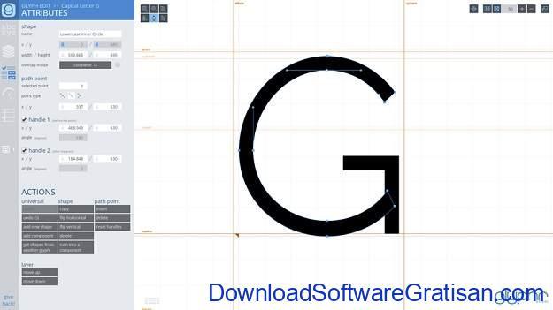 Aplikasi Desain Huruf Gratis Terbaik - Glyphr