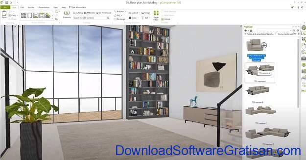 Aplikasi Desain Interior Gratis untuk PC PCon planner