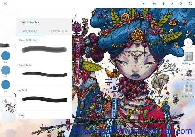 Aplikasi Desain Terbaik untuk Android - Photoshop Sketch