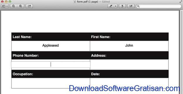 Aplikasi Edit PDF Gratis untuk macOS Preview