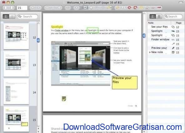 Aplikasi Edit PDF Gratis untun macOS Skim