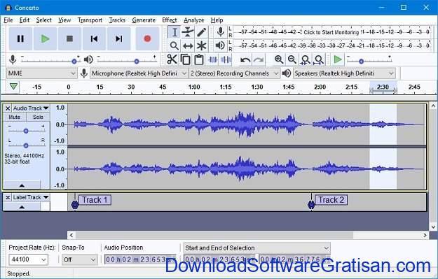 Aplikasi Edit Suara & Musik Gratis untuk Komputer: Audacity