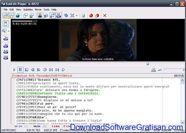 Aplikasi Edit Subtitle Gratis SubEdit Player