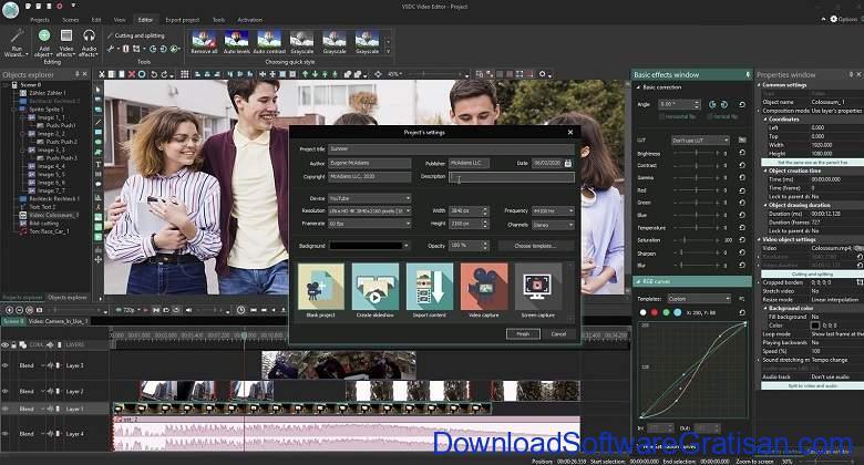 Aplikasi Edit Video Gratis PC VSDC Free Video Editor