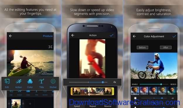 Aplikasi Edit Video Gratis Terbaik untuk Android ActionDirector Video Editor