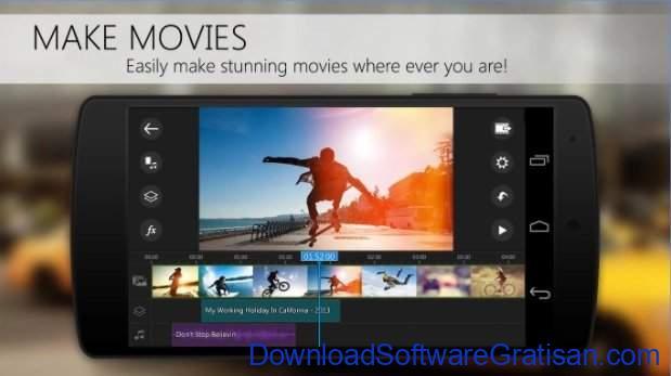 Aplikasi Edit Video Gratis Terbaik untuk Android PowerDirector Video Editor App
