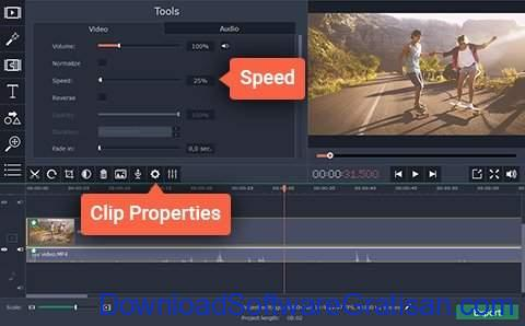 Aplikasi Edit Video Slow Motion PC Gratis Movavi Video Editor -terapkan efek slow motion