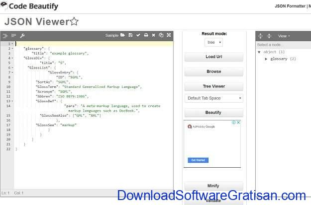 Aplikasi Editor JSON Gratis Terbaik Codebeautify