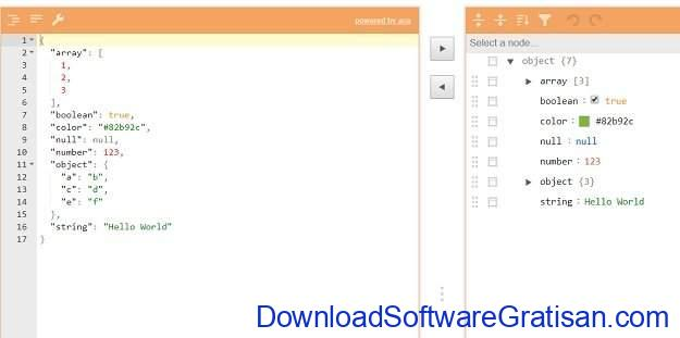 Aplikasi Editor JSON Gratis Terbaik Jsoneditoronline