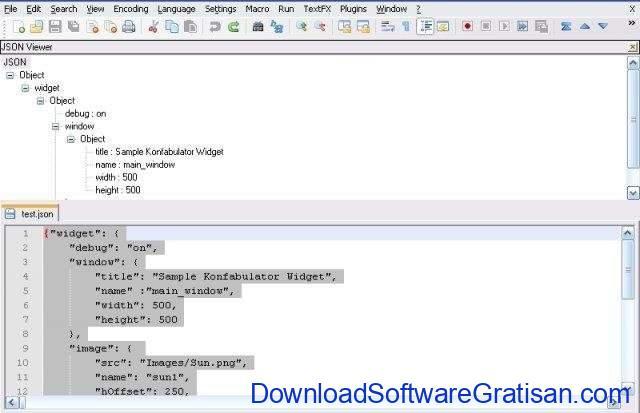Aplikasi Editor JSON Gratis Terbaik Plugin JSON viewer untuk notepad++
