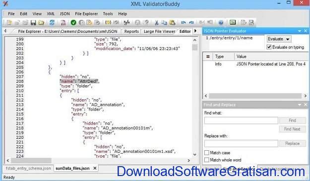 Aplikasi Editor JSON Gratis Terbaik XML buddy