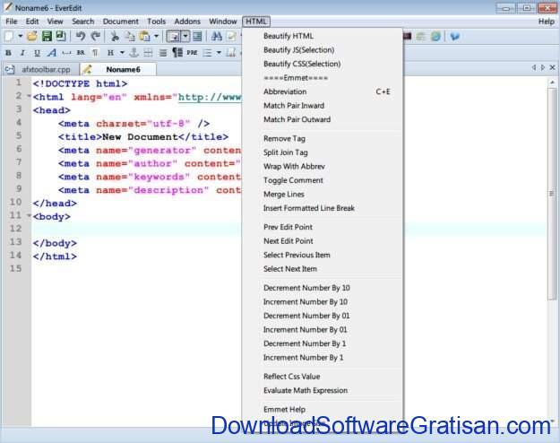 Aplikasi Editor Teks dan Kode Pemrograman untuk PC EverEdit