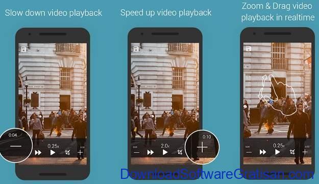 Aplikasi Efek Terbalik Video Terbaik Android - Slow Motion Video Zoom Player