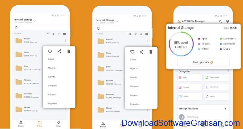 Aplikasi Ekstrak & Membuat File Zip RAR Terbaik - ASTRO File Manager Browser