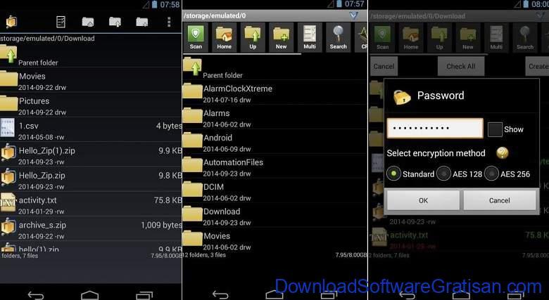 Aplikasi Ekstrak & Membuat File Zip RAR Terbaik - AndroZip File Manager
