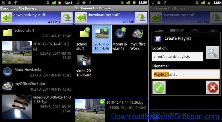 Aplikasi Ekstrak & Membuat File Zip RAR Terbaik - Blackmoon File Browser