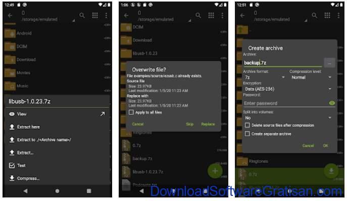 Aplikasi Ekstrak & Membuat File Zip RAR Terbaik - ZArchiver