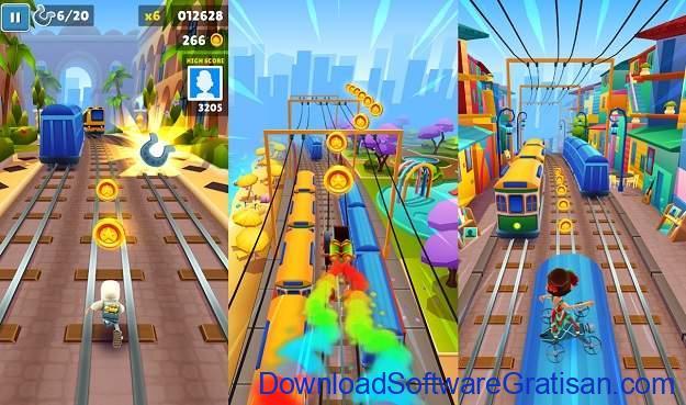 Aplikasi Game Cewek Terbaik Android - Subway Surfers