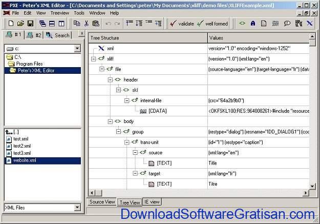 Aplikasi Gratis Terbaik untuk Edit XML Peter XML Editor