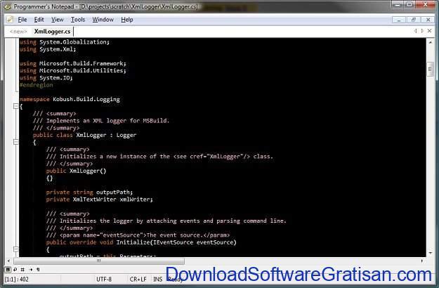Aplikasi Gratis Terbaik untuk Edit XML Programmer Notepad