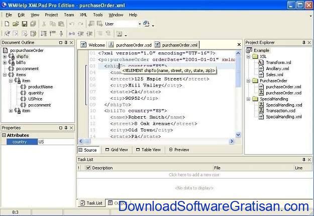 Aplikasi Gratis Terbaik untuk Edit XML WMHelp XMLPad