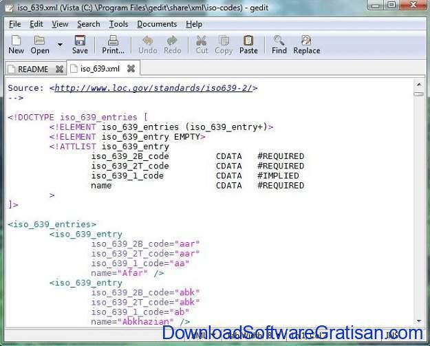 Aplikasi Gratis Terbaik untuk Edit XML gedit