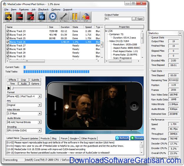 Aplikasi Gratis terbaik untuk Convert Video MediaCoder
