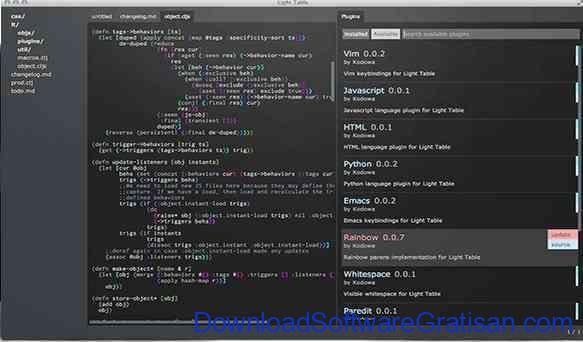 Aplikasi Gratis untuk Web Developer Light Table