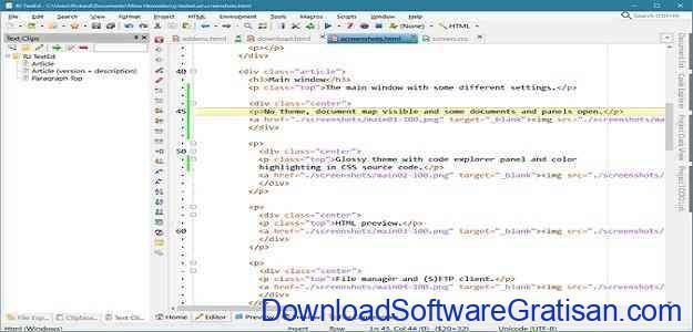 Aplikasi Gratis untuk Web Developer RJ TextEd