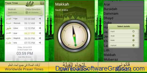 Aplikasi Jadwal Salat dan Imsakiyah Prayer Times & Qibla