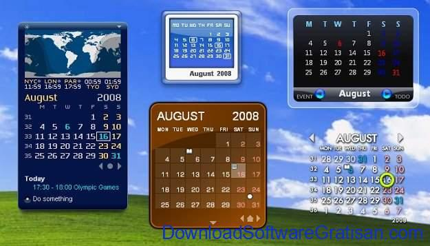 Aplikasi Kalender Gratis untuk PC Rainlendar